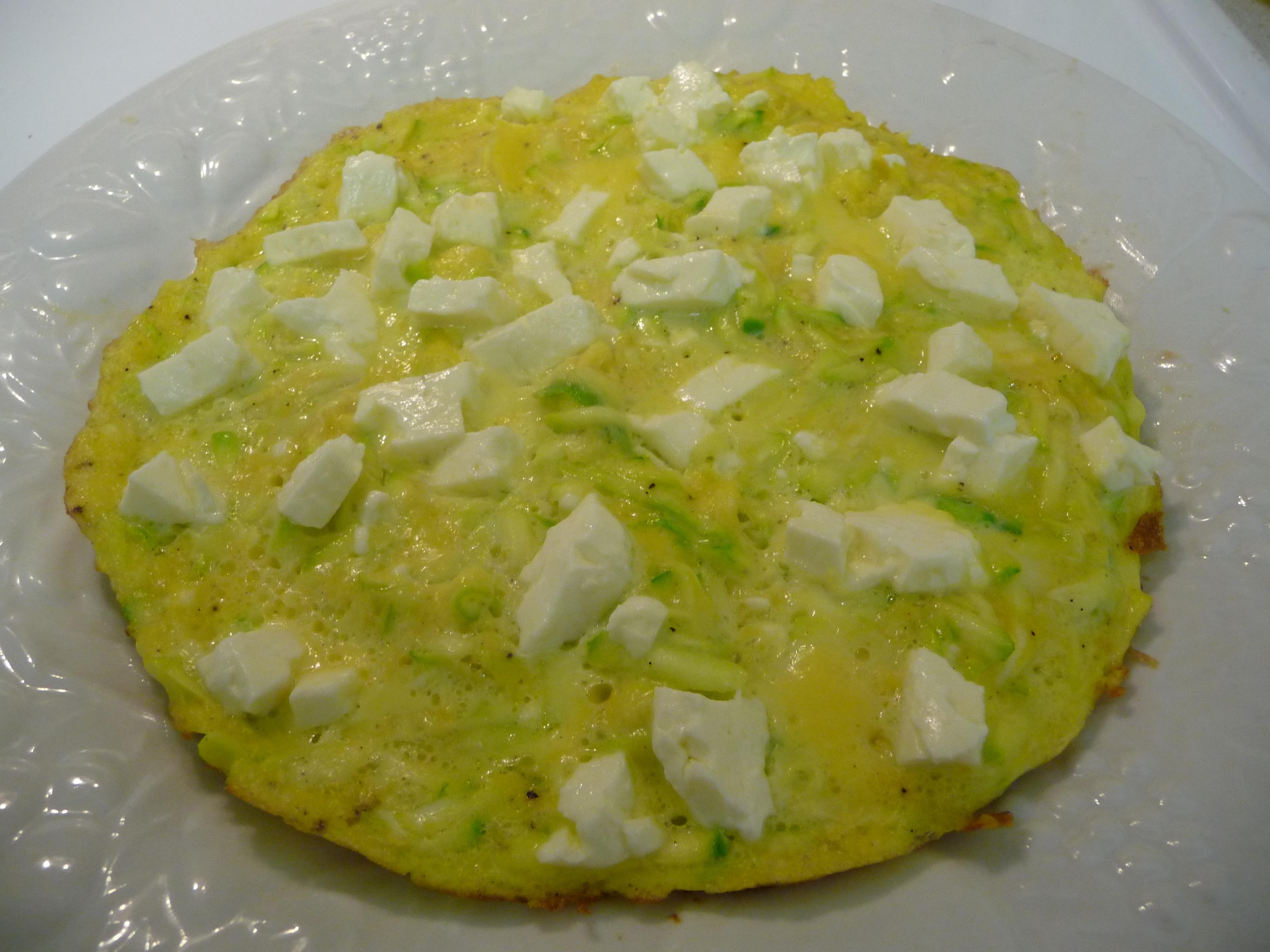 Zucchini Feta Omelet {Gluten-Free}
