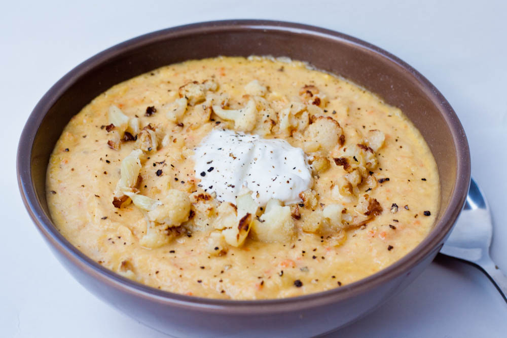 roasted garlic apple cauliflower romano and garlic cauliflower soup ...