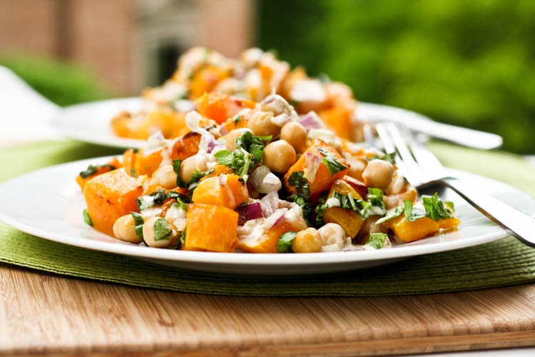 Roasted Butternut Squash & Chickpea Salad Recipe